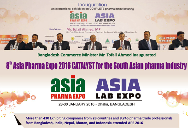 Parekhplast exhibits at the Asia Pharma Expo in Dhaka,  Bangladesh