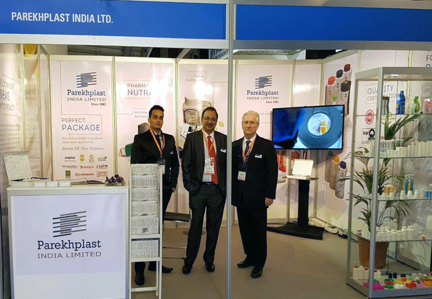 Parekhplast exhibits at CPhI Worldwide in Barcelona, Spain